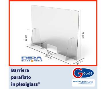 Barriera parafiato in plexiglass DIRA